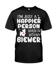 Happier Person Biewer Terrier Classic T-Shirt front