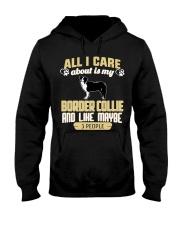 All I Care About Is My Border Collie Hooded Sweatshirt thumbnail