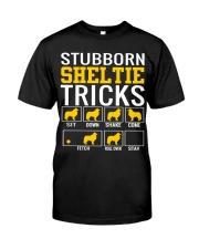 Stubborn Sheltie Tricks Classic T-Shirt front