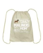 CRAZY BELGIAN MALINOIS MOM Drawstring Bag thumbnail