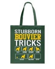 Stubborn Bouvier Tricks Tote Bag thumbnail