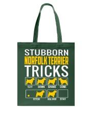 Stubborn Norfolk Terrier Tricks Tote Bag thumbnail