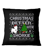 Christmas Is Better With A Shorkie Square Pillowcase thumbnail