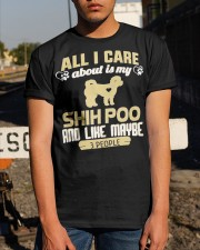 All I Care About Is My Shih Poo Classic T-Shirt apparel-classic-tshirt-lifestyle-29