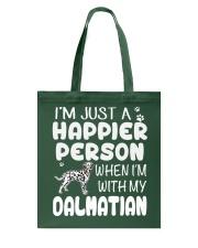 Happier Person Dalmatian Tote Bag thumbnail