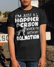 Happier Person Dalmatian Classic T-Shirt apparel-classic-tshirt-lifestyle-29