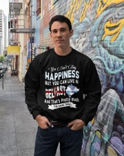 I LIVE IN BELFAST AND THAT IS PRETTY MUCH Crewneck Sweatshirt lifestyle-unisex-sweatshirt-front-2