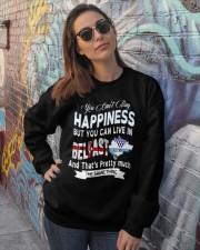 I LIVE IN BELFAST AND THAT IS PRETTY MUCH Crewneck Sweatshirt lifestyle-unisex-sweatshirt-front-3