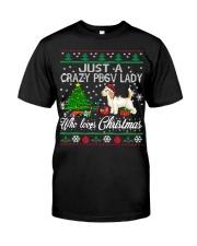 Crazy Lady Loves PBGV And Christmas Classic T-Shirt thumbnail