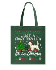 Crazy Lady Loves PBGV And Christmas Tote Bag thumbnail