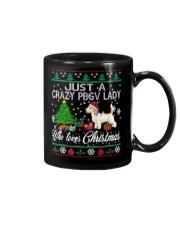 Crazy Lady Loves PBGV And Christmas Mug thumbnail