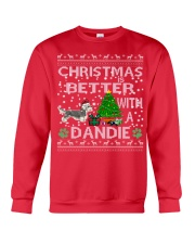 Christmas Is Better With A Dandie Crewneck Sweatshirt front
