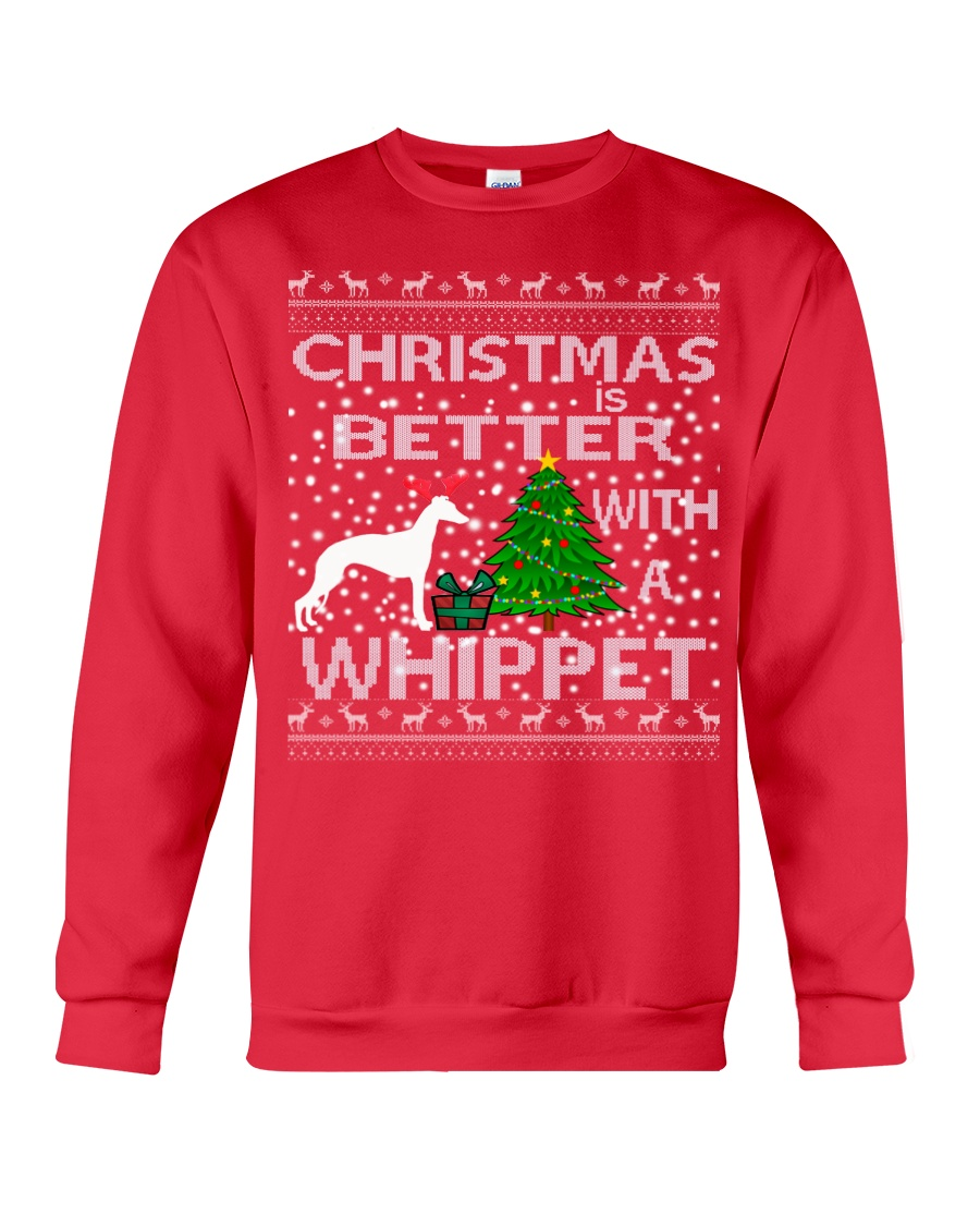 Christmas Is Better With A Whippet Crewneck Sweatshirt