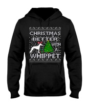 Christmas Is Better With A Whippet Hooded Sweatshirt thumbnail