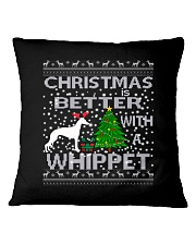 Christmas Is Better With A Whippet Square Pillowcase thumbnail