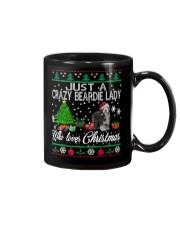 Crazy Lady Loves Beardie And Christmas Mug thumbnail