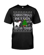 Christmas Is Better With A TIBETAN TERRIER Classic T-Shirt tile