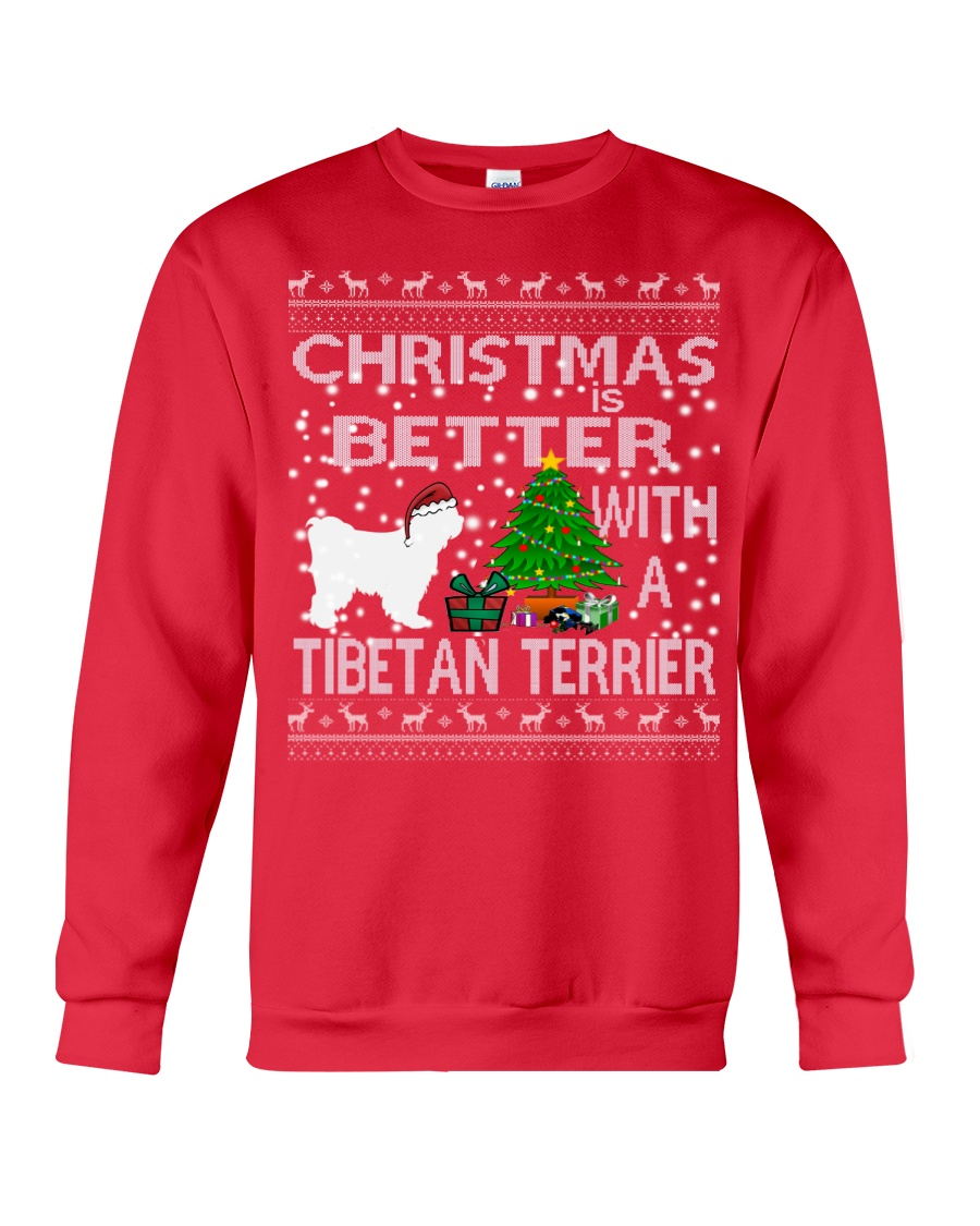 Christmas Is Better With A TIBETAN TERRIER Crewneck Sweatshirt