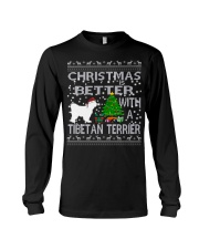 Christmas Is Better With A TIBETAN TERRIER Long Sleeve Tee tile