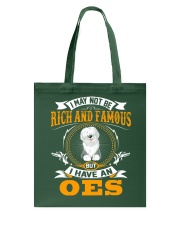 Rich And Famous WIth OES Old English Sheepdog Tote Bag thumbnail