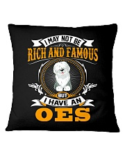 Rich And Famous WIth OES Old English Sheepdog Square Pillowcase thumbnail