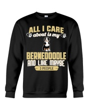 All I Care About Is My Bernedoodle Crewneck Sweatshirt thumbnail