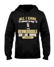 All I Care About Is My Bernedoodle Hooded Sweatshirt thumbnail