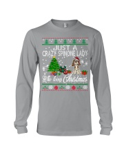 Crazy Spinone Lady Who Loves Christmas Long Sleeve Tee thumbnail