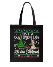 Crazy Spinone Lady Who Loves Christmas Tote Bag thumbnail