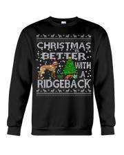 Christmas Is Better With A Rhodesian Ridgeback Crewneck Sweatshirt tile