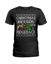 Christmas Is Better With A Rhodesian Ridgeback Ladies T-Shirt thumbnail
