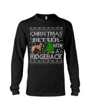 Christmas Is Better With A Rhodesian Ridgeback Long Sleeve Tee thumbnail