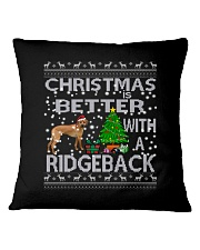 Christmas Is Better With A Rhodesian Ridgeback Square Pillowcase thumbnail