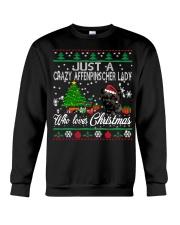 Just A Girl Who Loves Christmas And Affenpinscher Crewneck Sweatshirt tile
