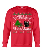 Just A Girl Who Loves Christmas And Affenpinscher Crewneck Sweatshirt front