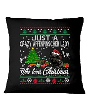 Just A Girl Who Loves Christmas And Affenpinscher Square Pillowcase thumbnail