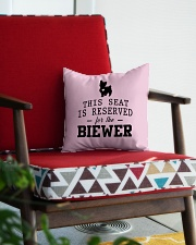 This Seat Is For Biewer Square Pillowcase aos-pillow-square-front-lifestyle-09