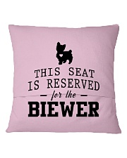 This Seat Is For Biewer Square Pillowcase back