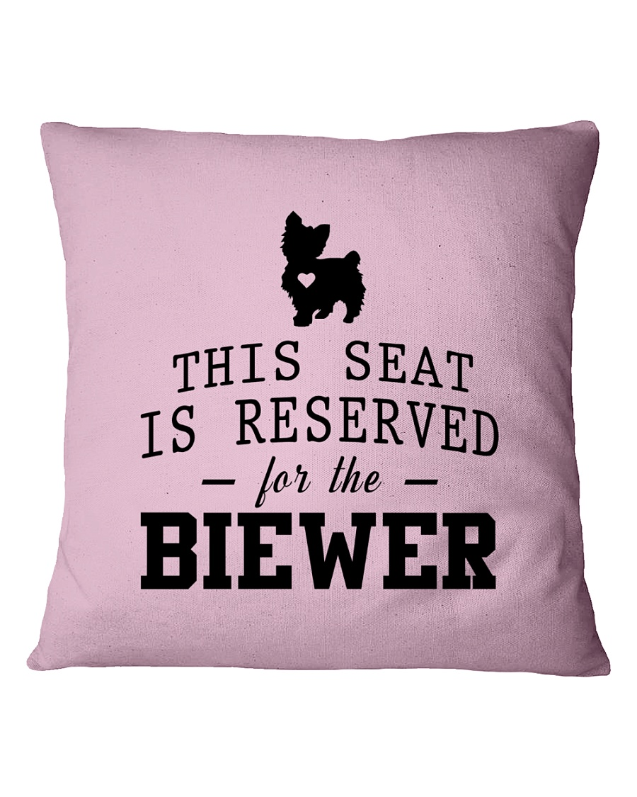 This Seat Is For Biewer Square Pillowcase