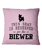 This Seat Is For Biewer Square Pillowcase front
