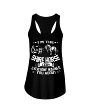 CRAZY SHIRE HORSE LADY Ladies Flowy Tank thumbnail