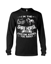 CRAZY SHIRE HORSE LADY Long Sleeve Tee thumbnail
