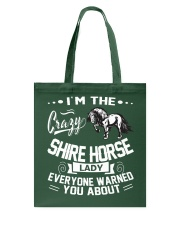 CRAZY SHIRE HORSE LADY Tote Bag thumbnail