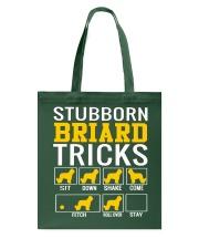 Stubborn Briard Tricks Tote Bag thumbnail