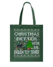 Christmas Is Better With An English Toy Terrier Tote Bag thumbnail