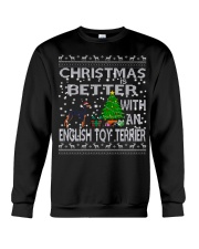 Christmas Is Better With An English Toy Terrier Crewneck Sweatshirt tile