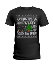 Christmas Is Better With An English Toy Terrier Ladies T-Shirt thumbnail