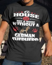 A House Is Home With German Shepherd Dog Classic T-Shirt apparel-classic-tshirt-lifestyle-28