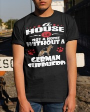 A House Is Home With German Shepherd Dog Classic T-Shirt apparel-classic-tshirt-lifestyle-29