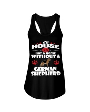 A House Is Home With German Shepherd Dog Ladies Flowy Tank thumbnail